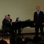 Ben Rardin performing at the Second Annual Honors voice recital at SIUE