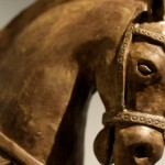 a big clay horse