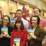 Students and alumna read persona poetry in bookstore