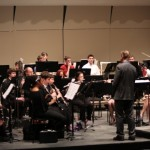 Dr. David Maslanka and Dr. John Bell rehearsing with the SIUE Wind Symphony