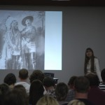Van Eck tells audience the story of Wounded Knee