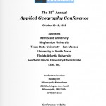 applied gegoraphy conference brochure