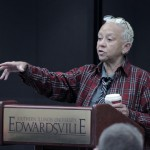 Nikki Giovanni talking to students at SIUE
