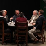 SIUE Faculty at round table discussion for Segue episode 100