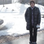 Dr. Mayra Heydrich on the quad at SIUE
