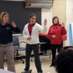 SIUE officers teach RAD techniques to women's studies class