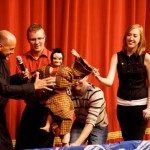 Students get hands on Japanese puppetry during Bunraku Bay Puppet Troupe workshop and show
