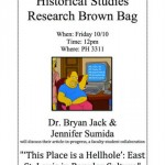 Historical Studies' brown bag presentations generate new ideas for research