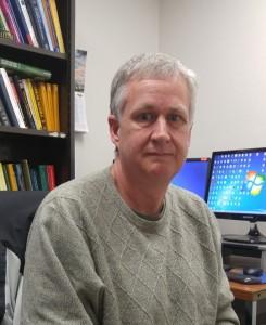 Dr. Andrew Neath, Statistics professor won the prestigous William and Margaret Going Endowed Professorship Award on Feb. 17. (Photo by Joseph Lacdan)