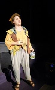 """Senior Tyler Green, who plays Papageno in """"The Magic Flute,"""" performs during rehearsals. (Photo by Joseph Lacdan)"""