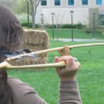 Atlatl club throws spears at competition