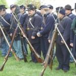 Civil War re-enactors encamp at Circle Drive