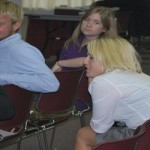 Anthropology students present to board