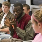 Blankson, Brown attend minority recruitment conference