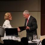 Gary Osborne Accepting The Community Organization Award at SIUE's Social Work Gala 2012