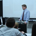 Fritz Faerber lecturing at SIUE for Mass Comm Week 2012