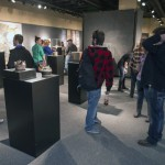 Visitors at the opening of the SIUE Spring Graduate show 2013 (photo courtesy of Howard Ash)