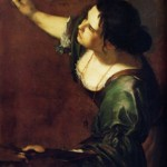 Hand of Baroque female painter grabs students' attention